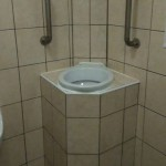 A standing toilet bowl you can puke in?  Gamechanger