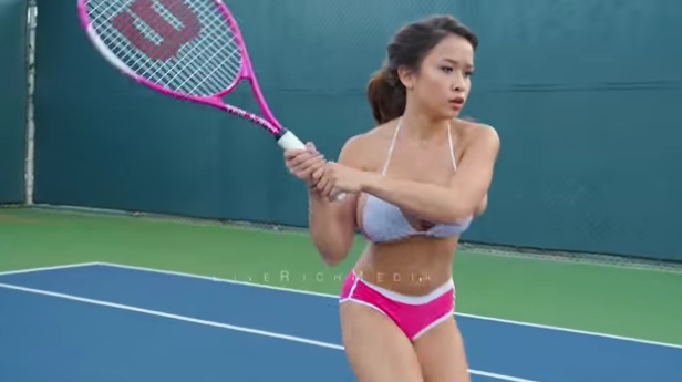 large breasted tennis players
