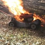 Today in 'Murica: Guy fills his lawnmower with explosives, shoots it, blows off his leg