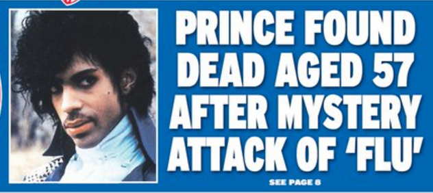The Express is dubious on Prince