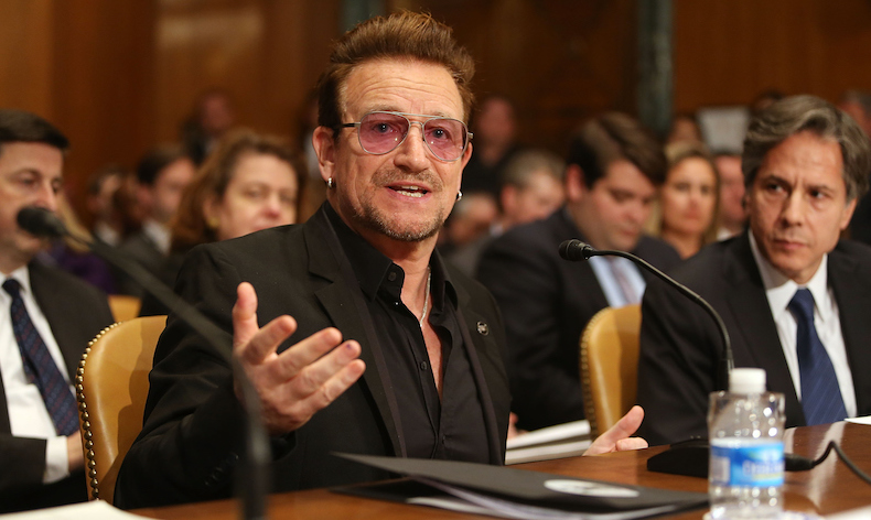 Bono Attends A Hearing On Causes And Consequences Of Violent Extremism And The Role Of Foreign Assistance