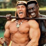 Great Moments in Photography: Grace Jones introduces Arnie to pegging