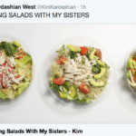 Kim Kardashian casually tossing salad with her sisters because it's Tuesday