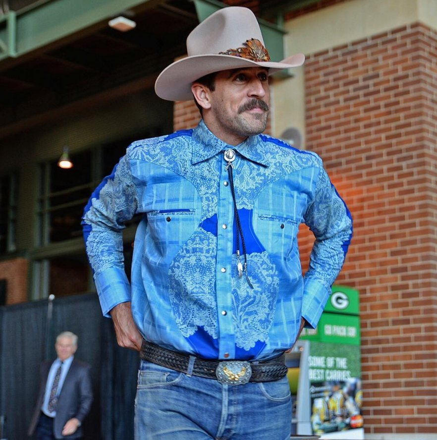 Great Moments In Nfl Fashion Aaron Rodgers Brokeback