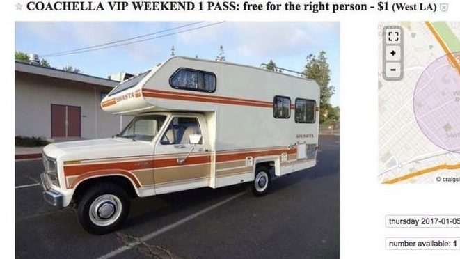 Great opportunity, with great specificity, for a VIP ticket to Coachella