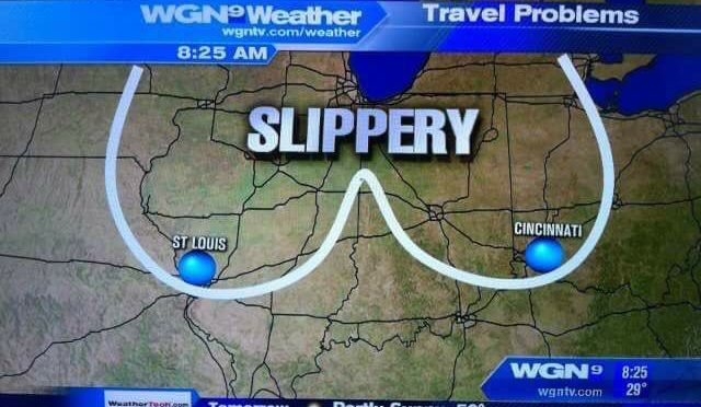 Great Moments in Broadcasting: Slippery