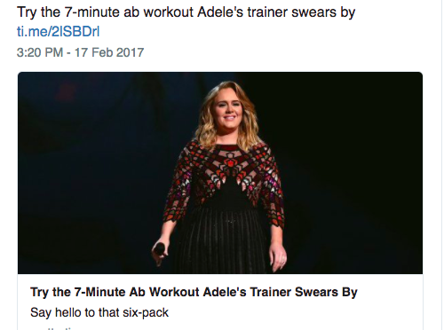 Time would like to get you in shape with Adele's Abs Program