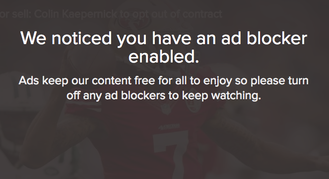 Here's what might help stop people adblocking you