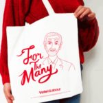 "Great Moments in Electoral Fashion: the ""For The Many"" Tote Bag"