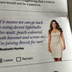 Great Moments in White People: Liz Hurley for Brexit
