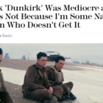 "Marie Claire with scorching hot take on ""Dunkirk"""