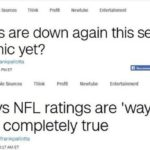 Great Moments in Journalism: CNN says NFL ratings are down unless Trump says so