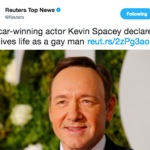 Incredibly smart PR work by Spacey to play the gay of diamonds to dodge sexual harassment headline